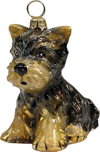 Joy to The World Collectibles European Blown Glass Pet Ornament, Yorkshire Terrier ()