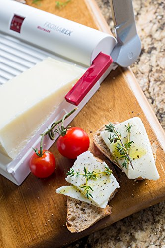 Westmark Germany Multipurpose Stainless Steel Cheese and Food Slicer with Board and Adjustable Thickness Dial (White) by Westmark (Image #6)