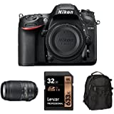 Nikon D7200 DX-Format DSLR Camera with 55-300mm Lens Accessory Bundle