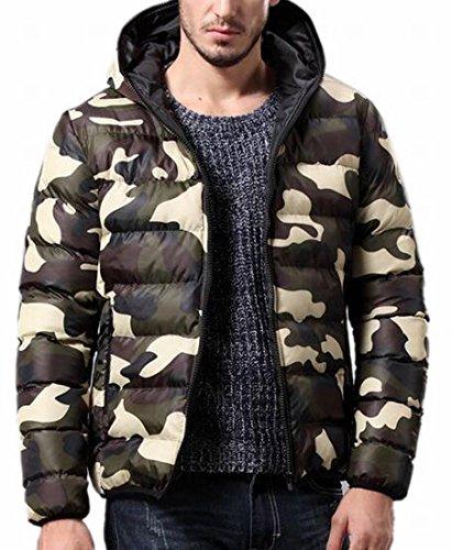 Jacket today Down Outwear UK Camo Green Lightweight Hooded Mens Thicken Winter ZP0r8Zz