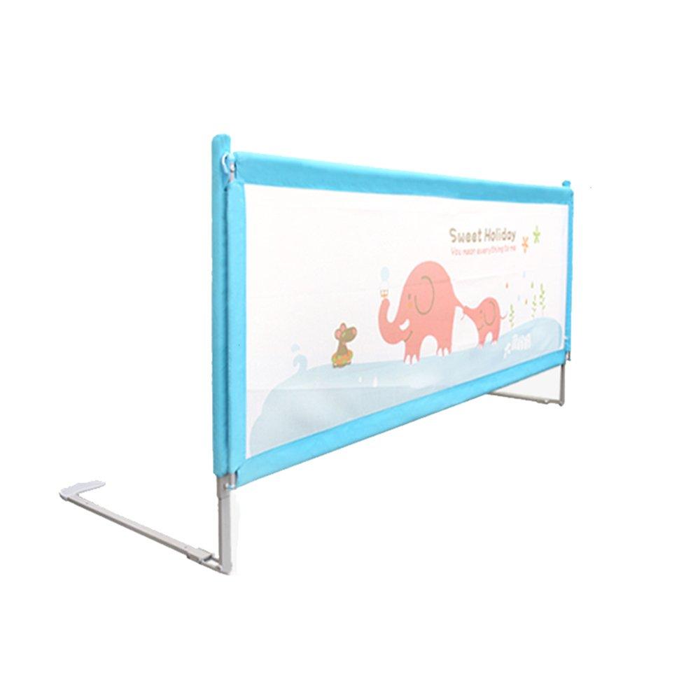 + ポータブルベビーガードレール150/180 / 200cm調節可能な安定した安全バッフルの高さ(青) ## (サイズ さいず : L-150cm) B07KF3T1LY  L-150cm
