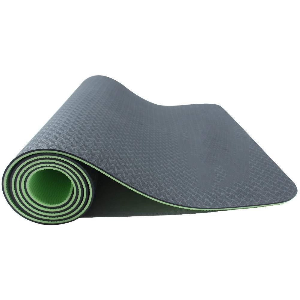 KYCD Tappetino da Yoga Antiscivolo in TPE da 6 mm Tappetino Fitness Bicolore Ecologico