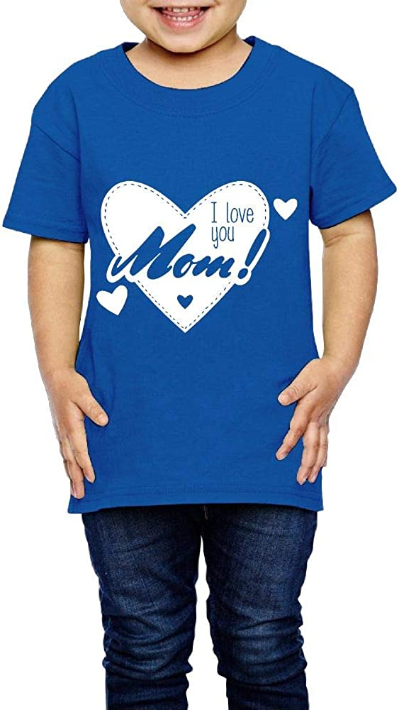 I Love You Mom 2-6 Years Old Boys /& Girls Short-Sleeved T-Shirt