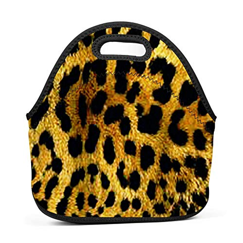 - GCASST Wildcat Print Printed Lunch Bag, Neoprene Insulated Lunch Box, Reusable Tote for Girls Boys Kids Women Men Adults
