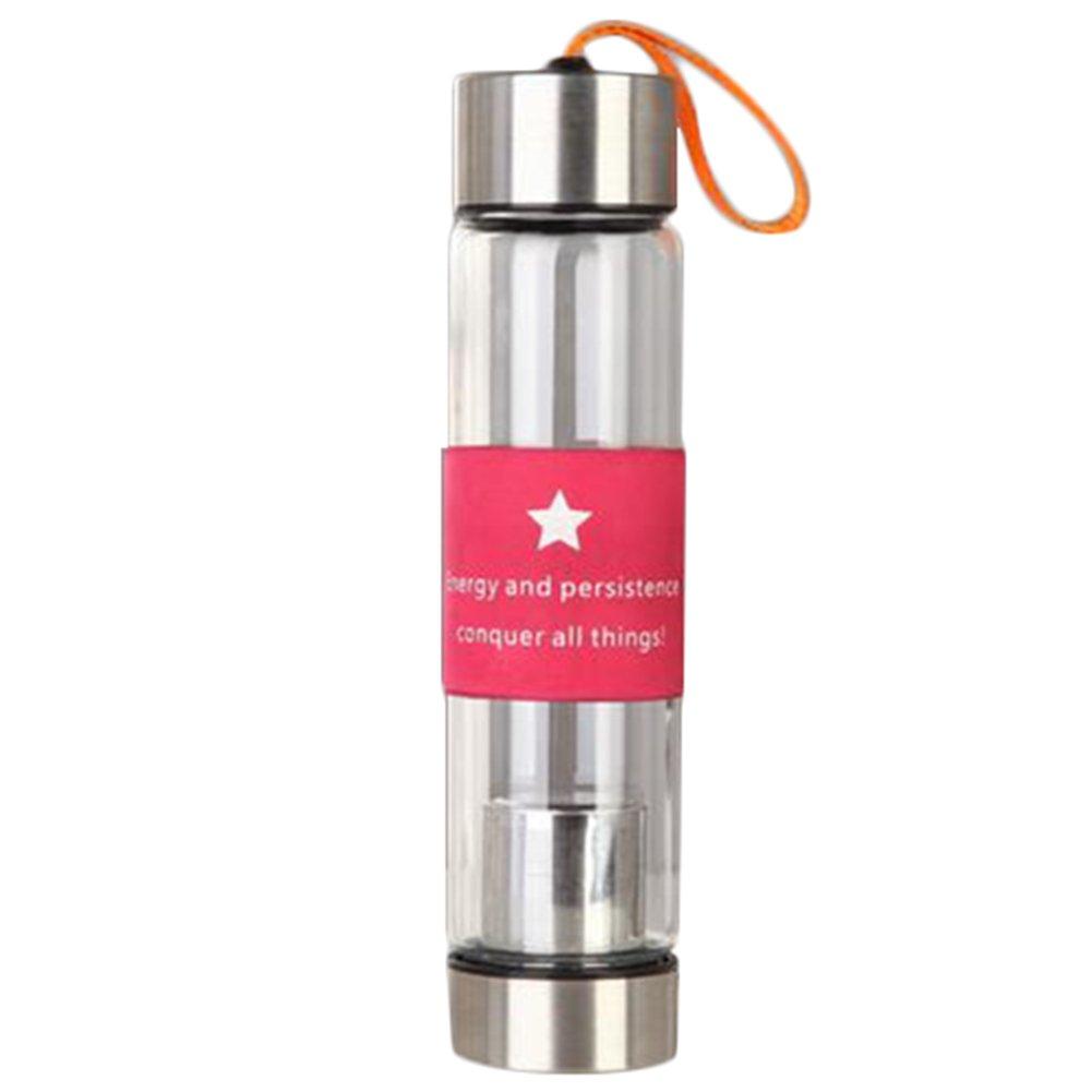 Scrox 1x Botella de té Tea Maker con Bolsa de Nylon, Fitness Yoga, Oficina, té, Viaje Size 240 * 58mm (Color Rosa): Amazon.es: Hogar