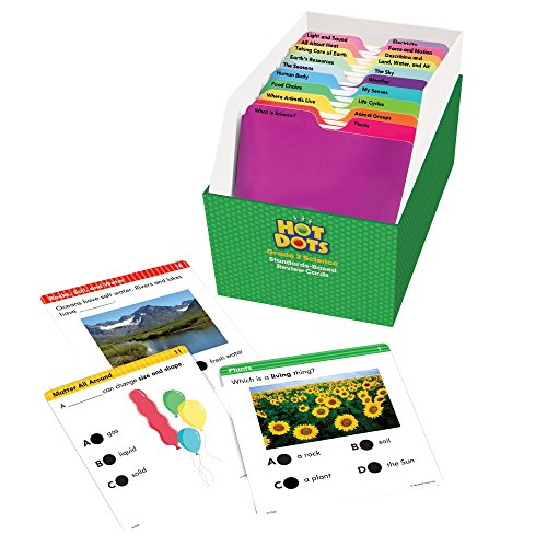 - Educational Insights 2506 Hot Dots Science Standards-Based Review Cards - Grade 2