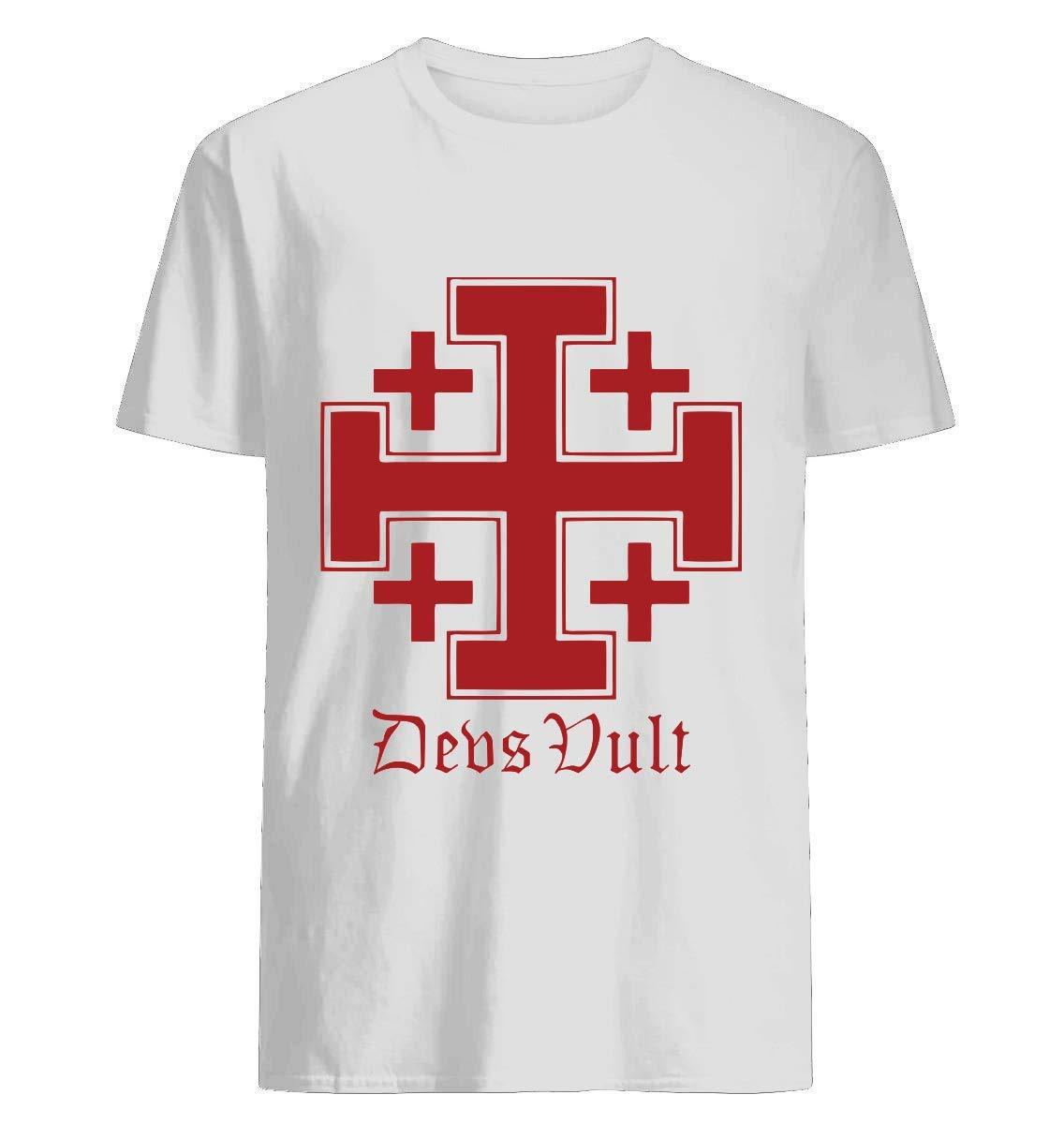 Deus Vult Cross Red Shirts