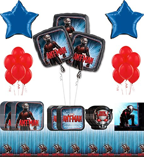 Ant-man Super Hero Party Supplies and Balloon Decoration Pack