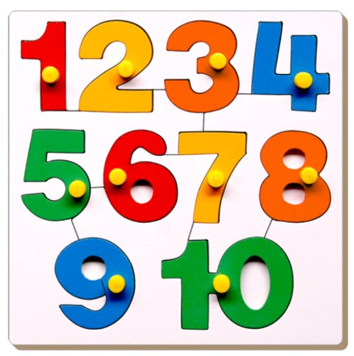 Little Genius Number Puzzle - 1 to 10 with Knob product image