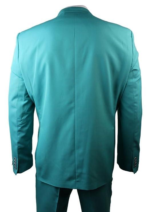 Hombres turquesa verde disfraz Blazer pantalón y corbata de noce ...