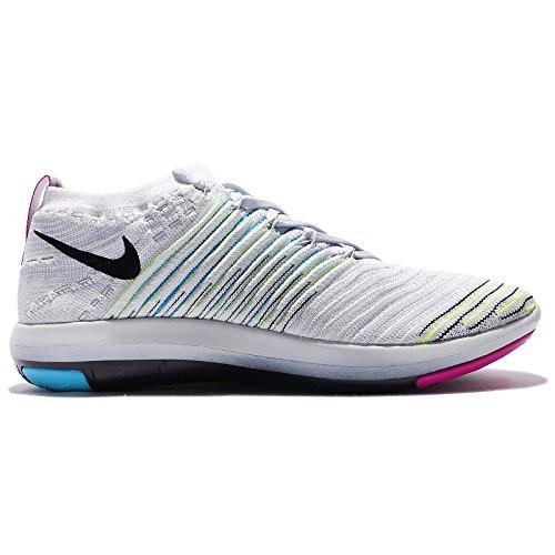 Nike Vrouwen Wm Vrije Transformatie Flyknit, Pr Pltnm / Blk-chlrn Bl-pht Bl, 8 Ons
