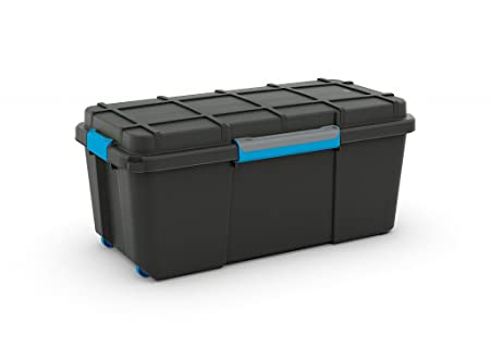 Large Plastic Scuba Dive Dry Box Black Wheeled Mobile Storage Trunk   65  Litres   Perfect