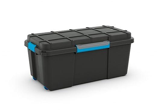 Large Plastic Scuba Dive Dry Box Black Wheeled Mobile Storage Trunk   65  Litres   Perfect