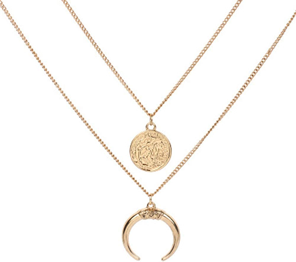 Sloth Charm Art Pendant Choker Jewelry Silver Moon Necklace For Women Dres