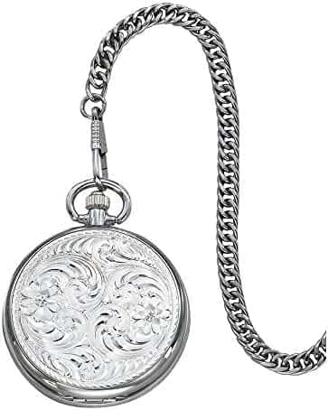 Montana Silversmiths WCHP39 Montana Time Analog Display Quartz Pocket Watch