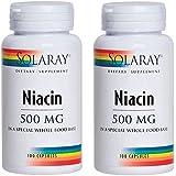 SOLARAY(ソラレー), Niacin(ナイアシン - ビタミンB3) 500 MG 100カプセル(2個セット) [海外直送品]