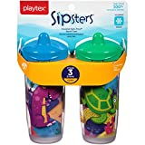 Playtex Baby Sipsters Spill-Proof Kids Spout Cups, Stage 3 (12+ Months), Pack of 2 Cups