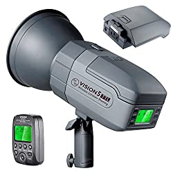 Neewer Vision5 400w Ttl For Canon Hss Outdoor Studio Flash Strobe With 2.4g System & Wireless Trigger,2 Packs Li-ion Battery(up To 500 Full Power Flashes),german Engineered,3.96 Pounds,bowens Mount