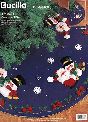 Bucilla - Christmas Pals - Felt Applique Tree Skirt Kit - Bucilla Felt Skirt Tree