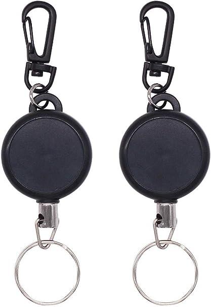 Portachiavi elastico retrattile portachiavi con catena elastica in corda d/'acc