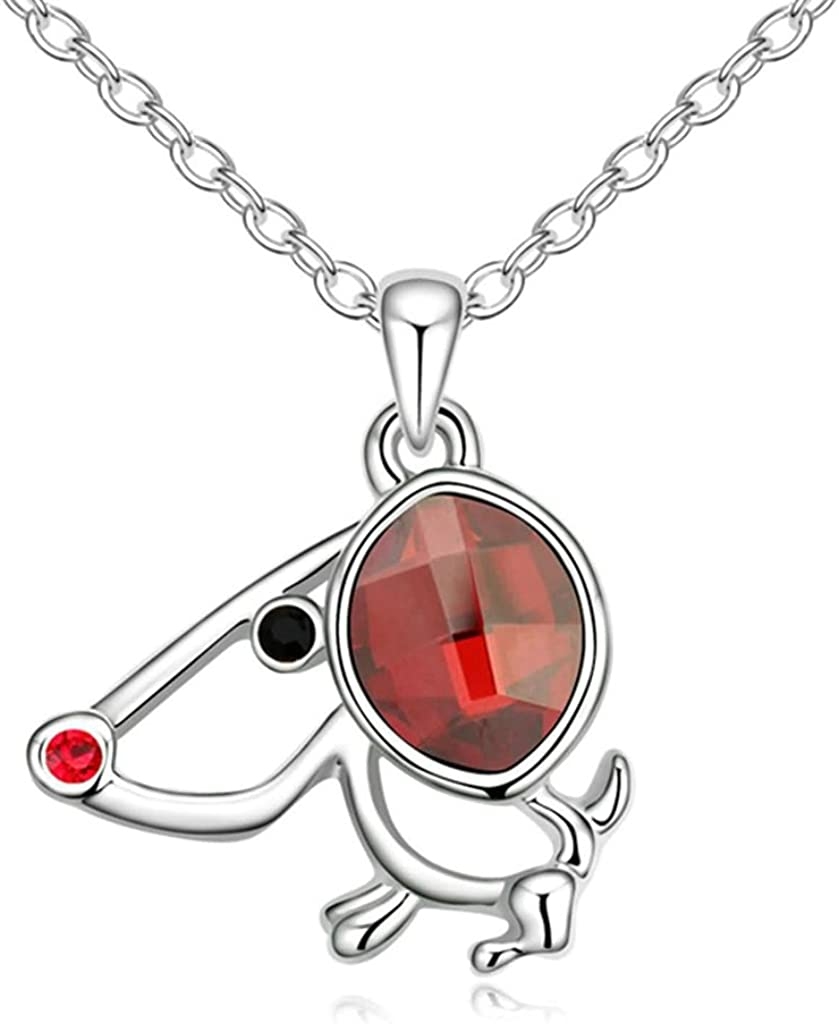 AMDXD Jewelry Alloy Pendant Necklaces for Women Wing 3.2X1.7CM