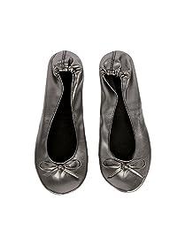 Women Portable Roll Up Ballerinas Foldable Ballet Flat Shoes