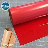Siser Easyweed Red Heat Transfer Craft Vinyl Roll (50ft x 15'' Bulk w/ Teflon roll)
