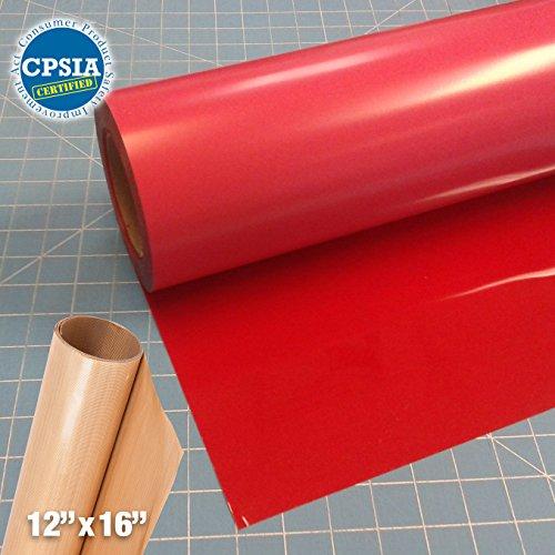 Siser Easyweed Red Heat Transfer Craft Vinyl Roll (150ft x 15'' Bulk w/ Teflon roll) by Siser