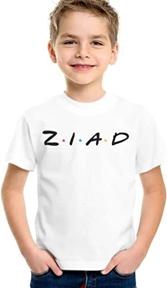 Ziad T-Shirt for Boys, Size 38 EU, White