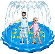 "Neoformers Splash Pad Sprinkler for Kids Toddlers, Outdoor Inflatable Wedding Pool Toy for Learning, 68"" Fun S"