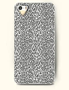 iPhone 5/5S Case, OOFIT Phone Cover Series for Apple iPhone 5 5S Case (DOESN'T FIT iPhone 5C)-- Grey And White Cheetah Print -- Animal Print