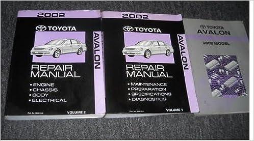 2002 toyota avalon service shop repair manual set oem (2 volume set plus wiring  diagram): toyota corporation: amazon com: books