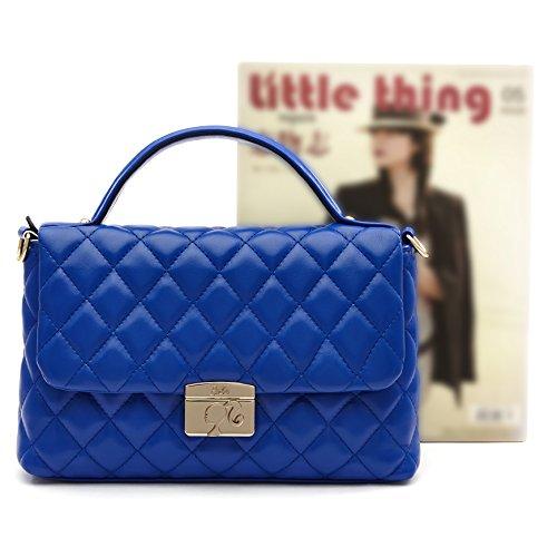 Barbie BBFB119 Bolso de Mano Bolso Bandolera Bolso Bolera Moleteado de Rombo Azul