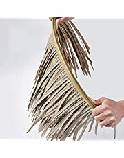 Decorative Artificial Straw Thatch PE PVC,Antiseptic So Service More Than 10 Years,for Tiki Bar Gardens Patio Deck Gazebos Farmhouse Restaurant(Size:6pcs,Color:Light Grey)