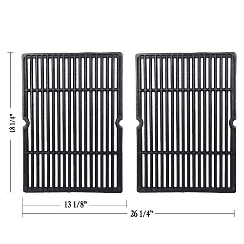 GGC Grid Grate Replacement for Charbroil, Coleman, Kenmore, Master Forge, Thermos, Uniflame, Master Forge and Others, 2-Pack Porcelain Coated Cast Iron Cooking Grid