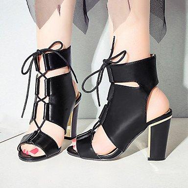 Innovant Club Blanc Lvyuan Et Robe Chaussures sandales Bureau Plein comfort Soirée Sport Fête Sturdy De Gladiateur Heel mariage Air Travail Y11BFwq4