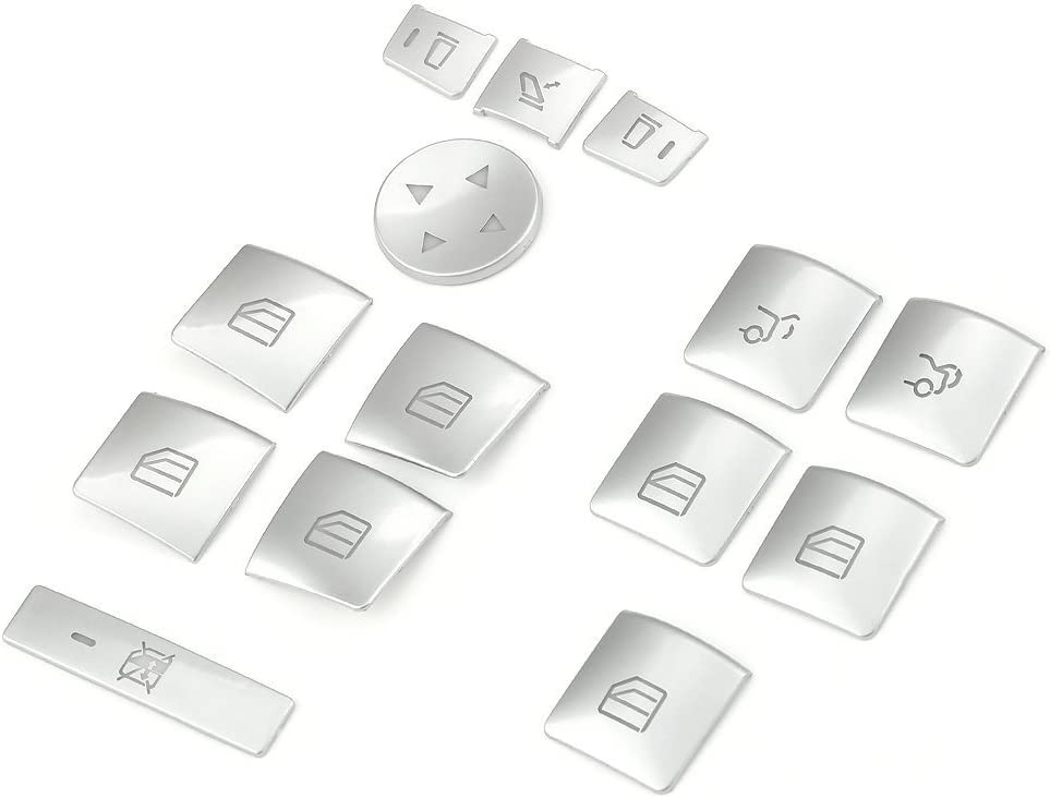 Brand NEW 14x//set Car Window lift button Cover For Mercedes Benz A B C E class