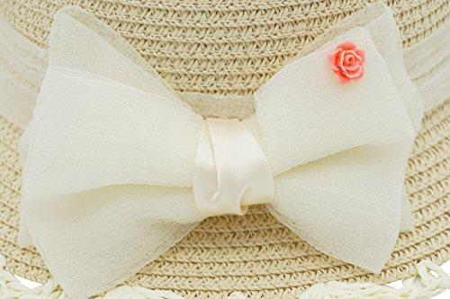 Little Children Babies Lace Bowknot Princess Sun Bonnet Straw Hat by Fairy Wings (Image #3)