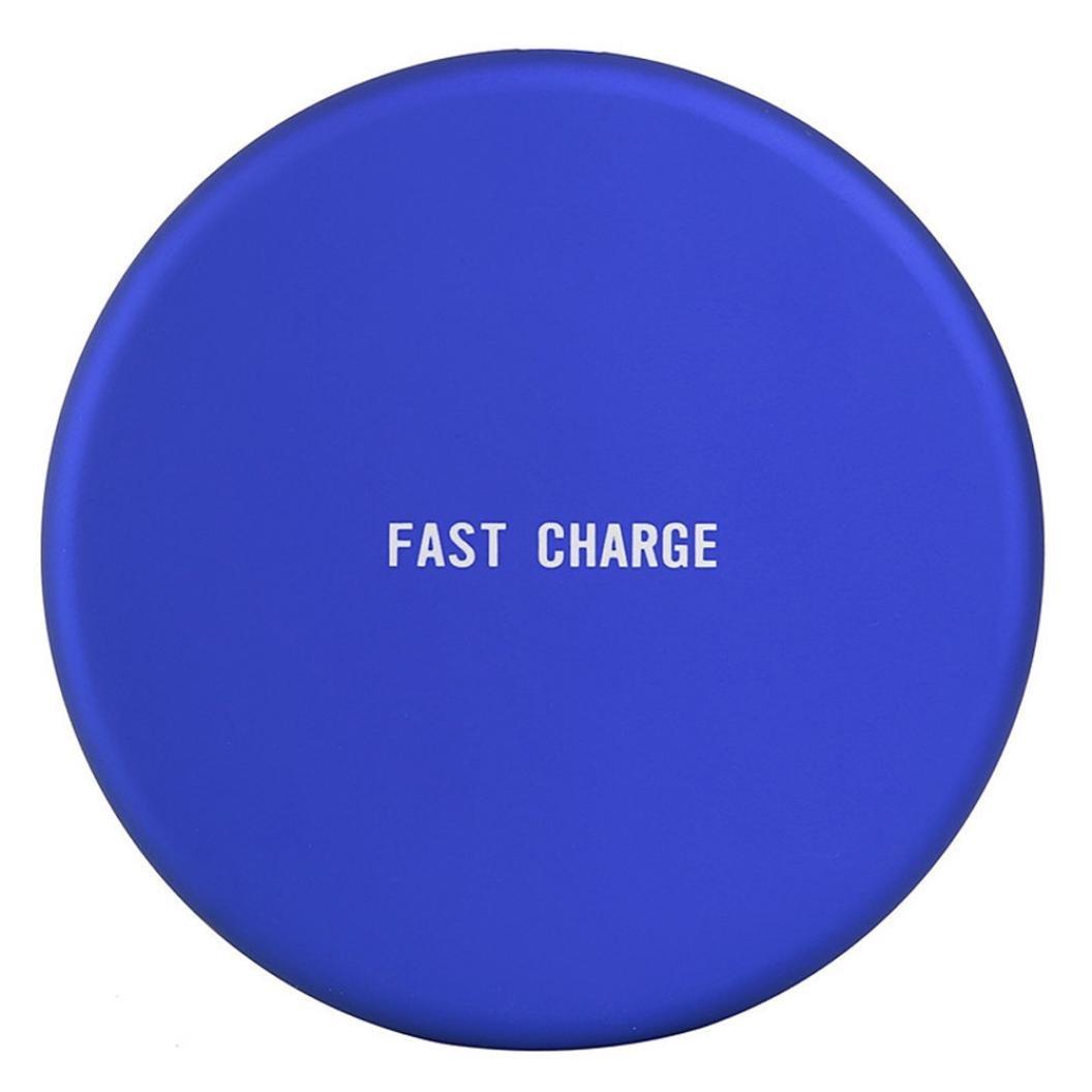Kfso電話充電充電Qiワイヤレス充電スタンドドックfor Samsung Galaxy s9 / s8 B07B5Z4DVT ブルー ブルー
