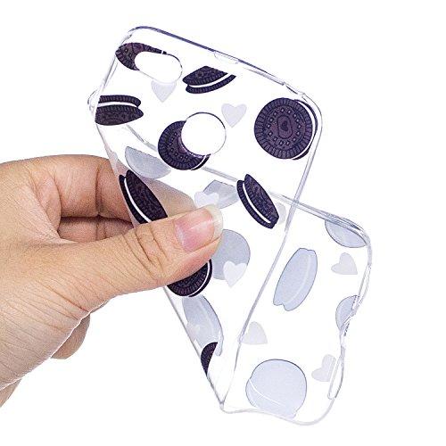 Xiaomi Redmi 4X Funda , Ecoway TPU Altamente Transparente Antideslizante Suave Resistente a Los arañazos TPU Contraportada Funda de Carcasa Funda Bumper Para Xiaomi Redmi 4X - Gato de yoga Galletas