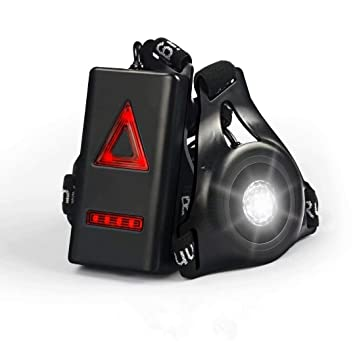 Sicherheit & Reflektoren Wiederaufladbare USB Joggen Running Light LED Brust Lampe 3 Modi Wasserdicht EM