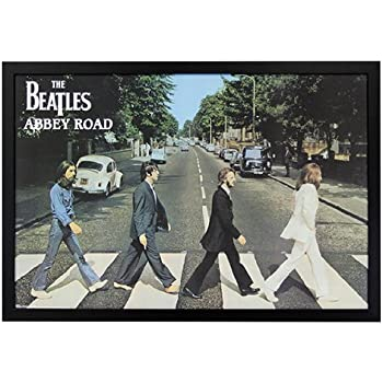 Amazon Com The Beatles Abbey Road Framed Poster Print