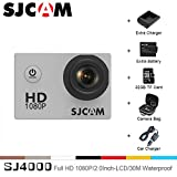 Sport Action Camera, Original SJCAM SJ4000 1080P 12MP Action Cam Waterproof Sport DV Camera Underwater Camcorder (Black)
