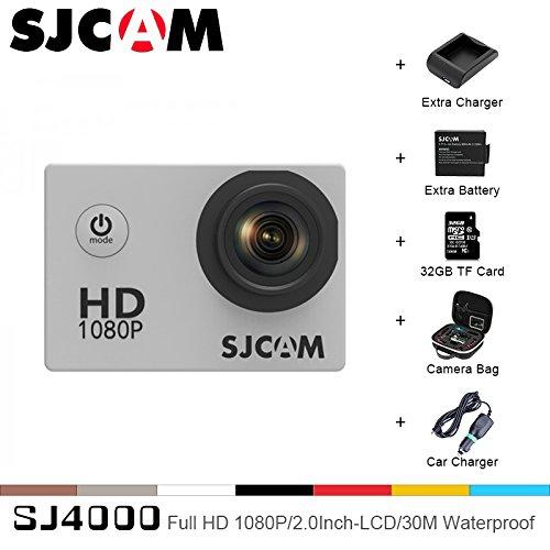 Sport Action Camera, Original SJCAM SJ4000 1080P 12MP Action Cam Waterproof Sport DV Camera Underwater Camcorder (Black) by SJCAM