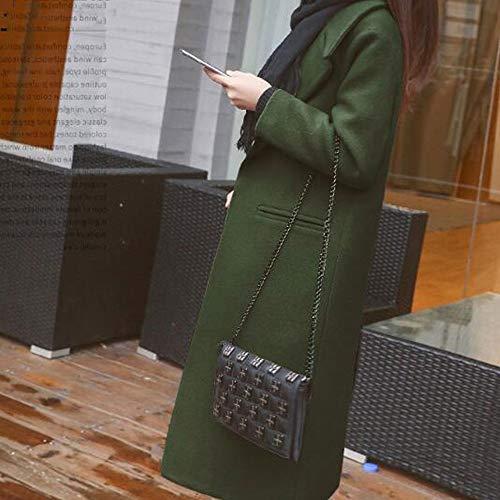 Solo De Pecho Primavera Verde Un Tjoirej Abrigos Mujer Sencillo Otoño Abrigo Invierno Taxf85x