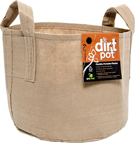 Dirt Pot HGDBT600H  Flexible Portable Planter, Tan, 600 gallon by Hydrofarm