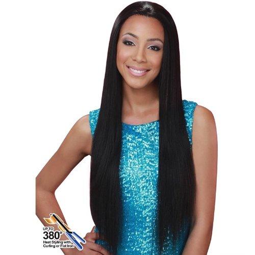 [Bobbi Boss Lace Front Wig - MLF-57 JASMINE (F1B/30)] (Black Jasmine Wig)