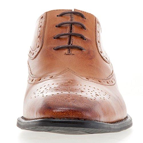 J75 By Jump Heren Windsor Oxford Shoe Tan