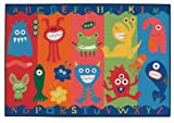 Alphabet Monsters Kids Rug Rug Size: 4' x 6'