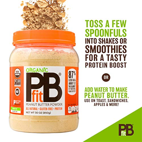 PBfit All-Natural Organic Peanut Butter Powder, Powdered Peanut Spread from Real Roasted Pressed Peanuts, 8g of Protein (30 oz.) 3